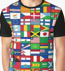The World's Flags Graphic T-Shirt