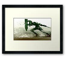 Spin Attack Zelda Framed Print