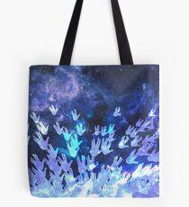 H.E.L.L.O. / blue Tote Bag
