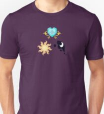 My little Pony - The Three Princesses of Equestria Cutie Mark V3 Unisex T-Shirt