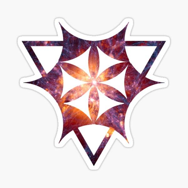 Sacred Geometry Space III - White Sticker