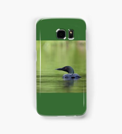 Cool and green and shady - Common loon Samsung Galaxy Case/Skin