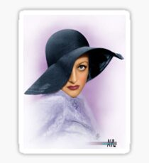 Colorized Joan Crawford c1935 Sticker