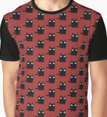 Fat Black Cat Graphic T-Shirt