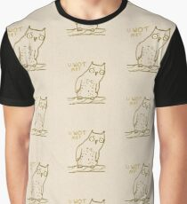 Confused Owl Graphic T-Shirt
