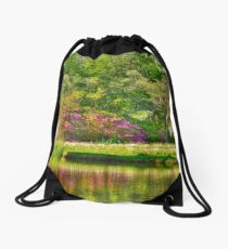 Another area of the pond Drawstring Bag