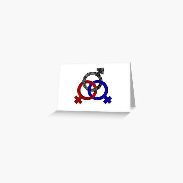 Polyamorous Triad - FMF Greeting Card