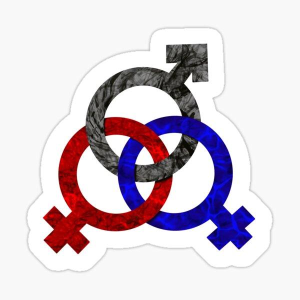 Polyamorous Triad - FMF Sticker