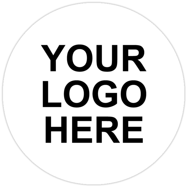 Quot Your Logo Here Quot Stickers By Expandable Studios Redbubble
