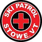 STOWE VERMONT Ski Patrol Ski Skiing Art by MyHandmadeSigns