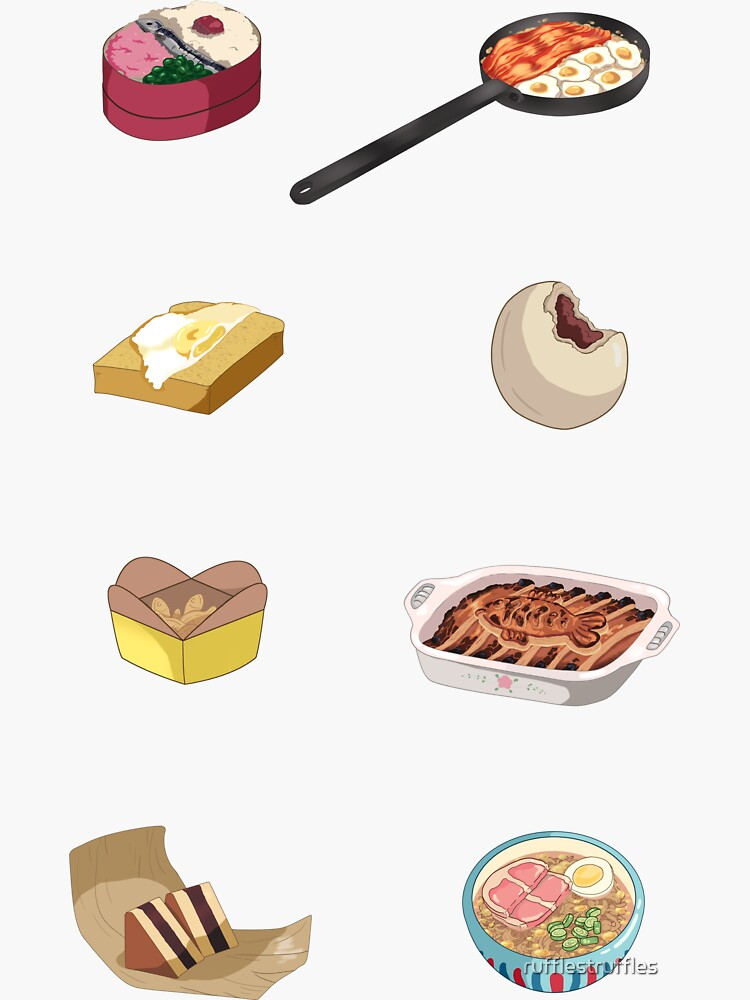 Ghibli Food Set by rufflestruffles