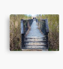 Wooden jetty Canvas Print