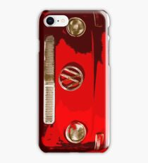 Volkswagen combi Illustration red version iPhone Case/Skin