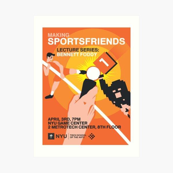 Bennett Foddy: Making Sportsfriends Art Print
