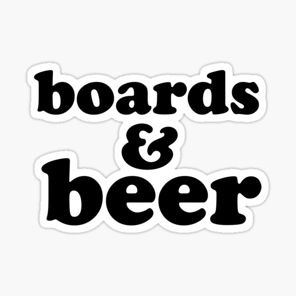 Boards & Beer Sticker