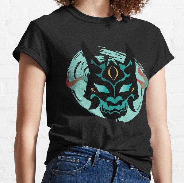 Impacto de Genshin | Máscara de Xiao Yaksha Camiseta clásica
