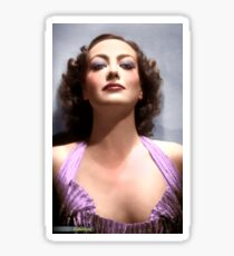 Colorized Joan Crawford in 1935 No More Ladies Sticker
