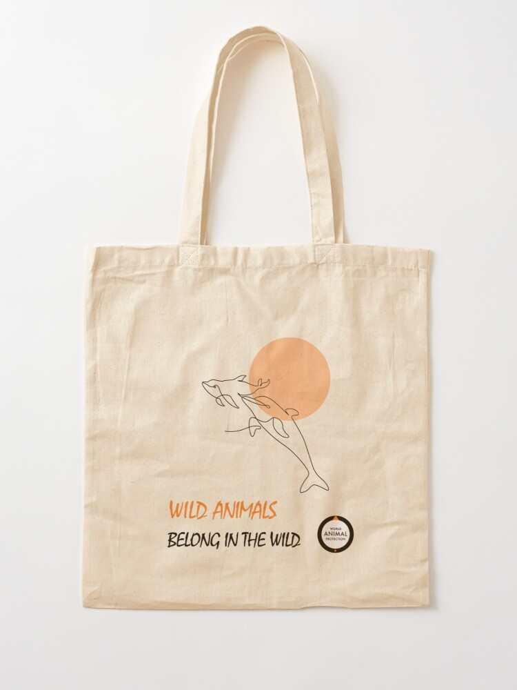 Alternate view of Dolphins belong in the wild Tote Bag