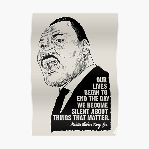Martin Luther Quotes Poster