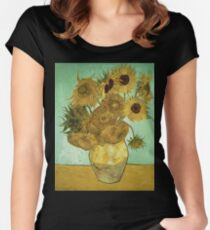 Vincent Van Gogh - Sunflowers  Women's Fitted Scoop T-Shirt