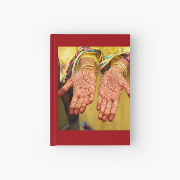 Mehendi in Udaipur Hardcover Journal