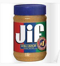 Jif Peanut Butter (Extra Crunchy) Poster