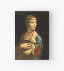 Leonardo Da Vinci - The Lady With An Ermine  Hardcover Journal