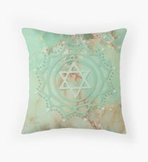 Heart chakra & jadeite stone Throw Pillow
