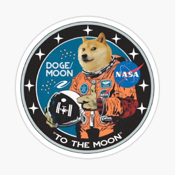 Doge to the moon Sticker