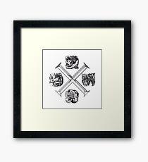 Monster Hunter Cross Framed Print
