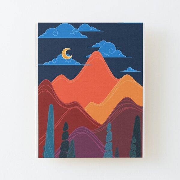 Moody Moonlight Wood Mounted Print