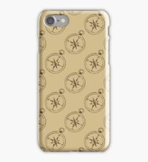 Pattern with compasses iPhone Case/Skin