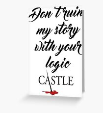 Castle quote Greeting Card