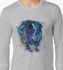 Space - Astronaut standing in the Nebula Long Sleeve T-Shirt