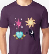 My little Pony - The Four Princesses of Equestria Cutie Mark Unisex T-Shirt