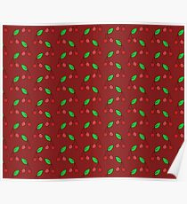 Red Cherry Pattern Poster