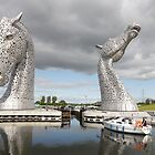 The Kelpies sculptures  by David Rankin