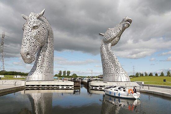 The Kelpies sculptures  by David Rankin