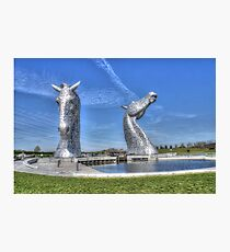 The Kelpies sculptures  Photographic Print