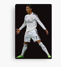 CR7, Cristiano Ronaldo, Cristiano, Ronaldo, oro, portugal, 7 Leinwanddruck