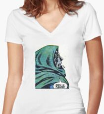 MF DOOM Women's Fitted V-Neck T-Shirt