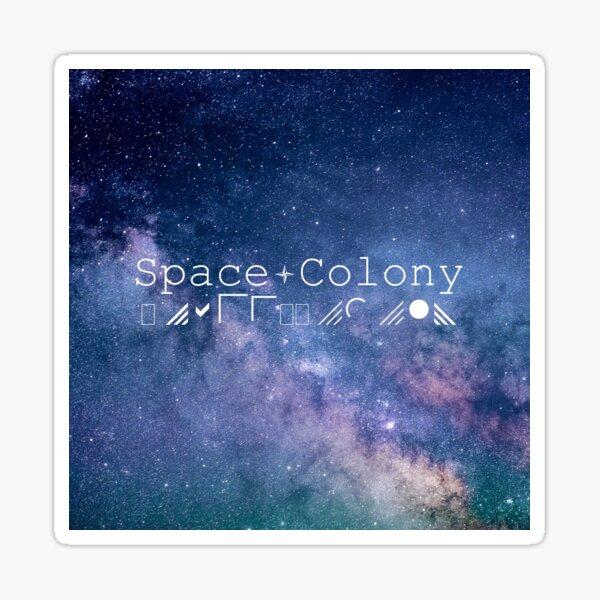 Space Colony Sticker