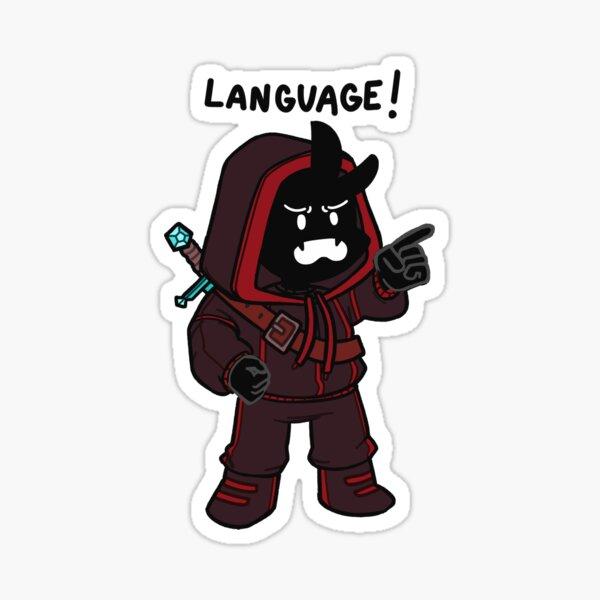 BadBoyHalo LANGUAGE! Sticker