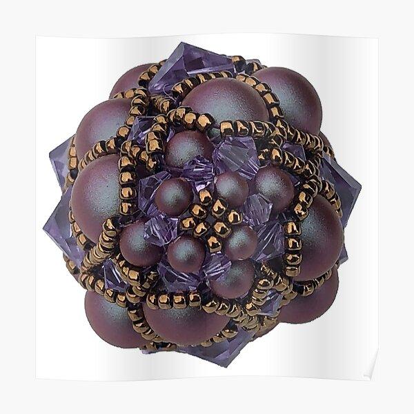 Kieferzäpfchen aus iridescent red & violet Swarovski Kristallglas Poster