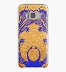Blue peacocks Samsung Galaxy Case/Skin