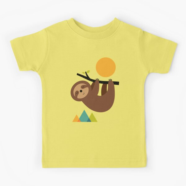 apprendre à rester calme et à vivre lentement T-shirt enfant