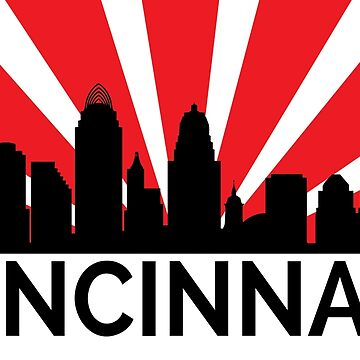Cincinnati Sunrise Skyline by pieperview