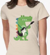 Croco Rock Women's Fitted T-Shirt