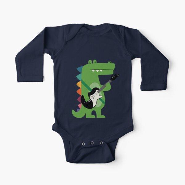 Croco Rock Long Sleeve Baby One-Piece