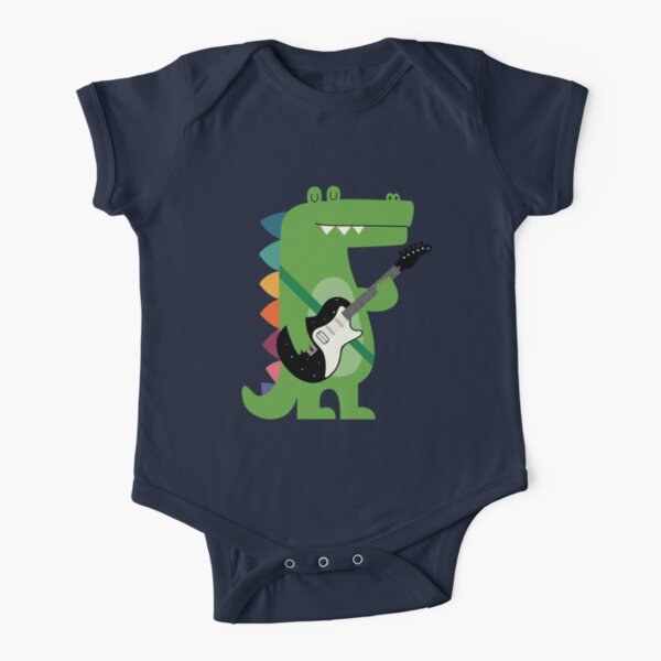 Croco Rock Short Sleeve Baby One-Piece